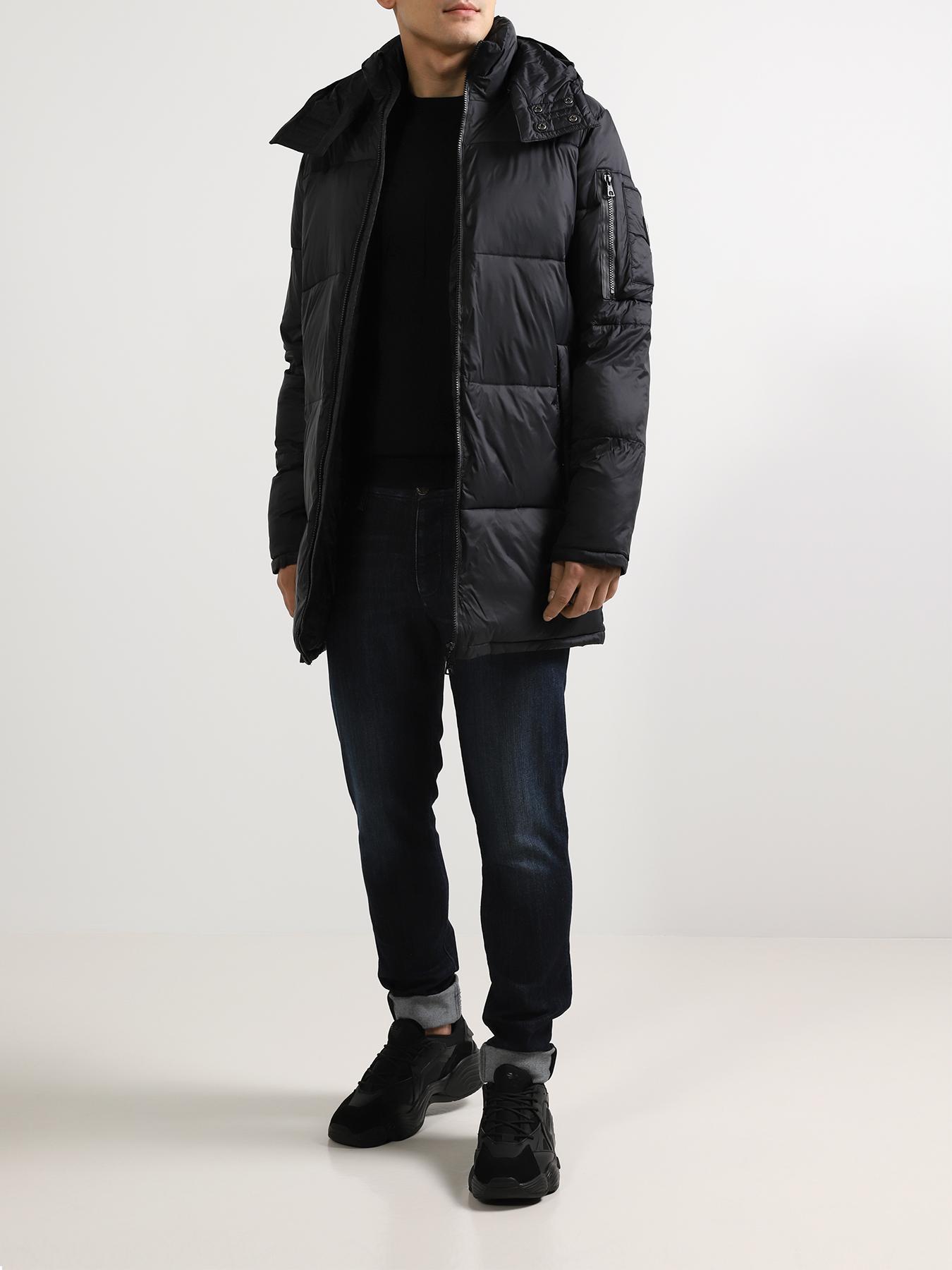 Пальто EA7 Emporio Armani Удлиненная куртка кроссовки ea7 emporio armani кеды