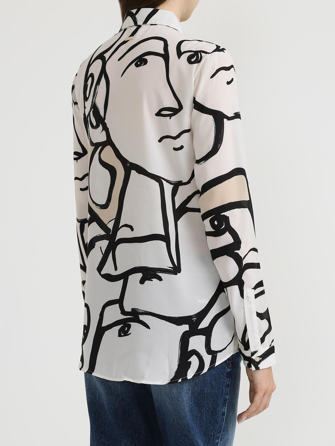 Armani Exchange Женская блузка с рисунками 353109-044 Фото 2