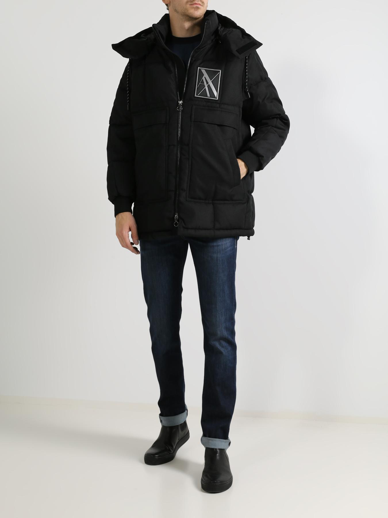 Пальто Armani Exchange Мужской пуховик пуховик мужской e jiaku e18 2014
