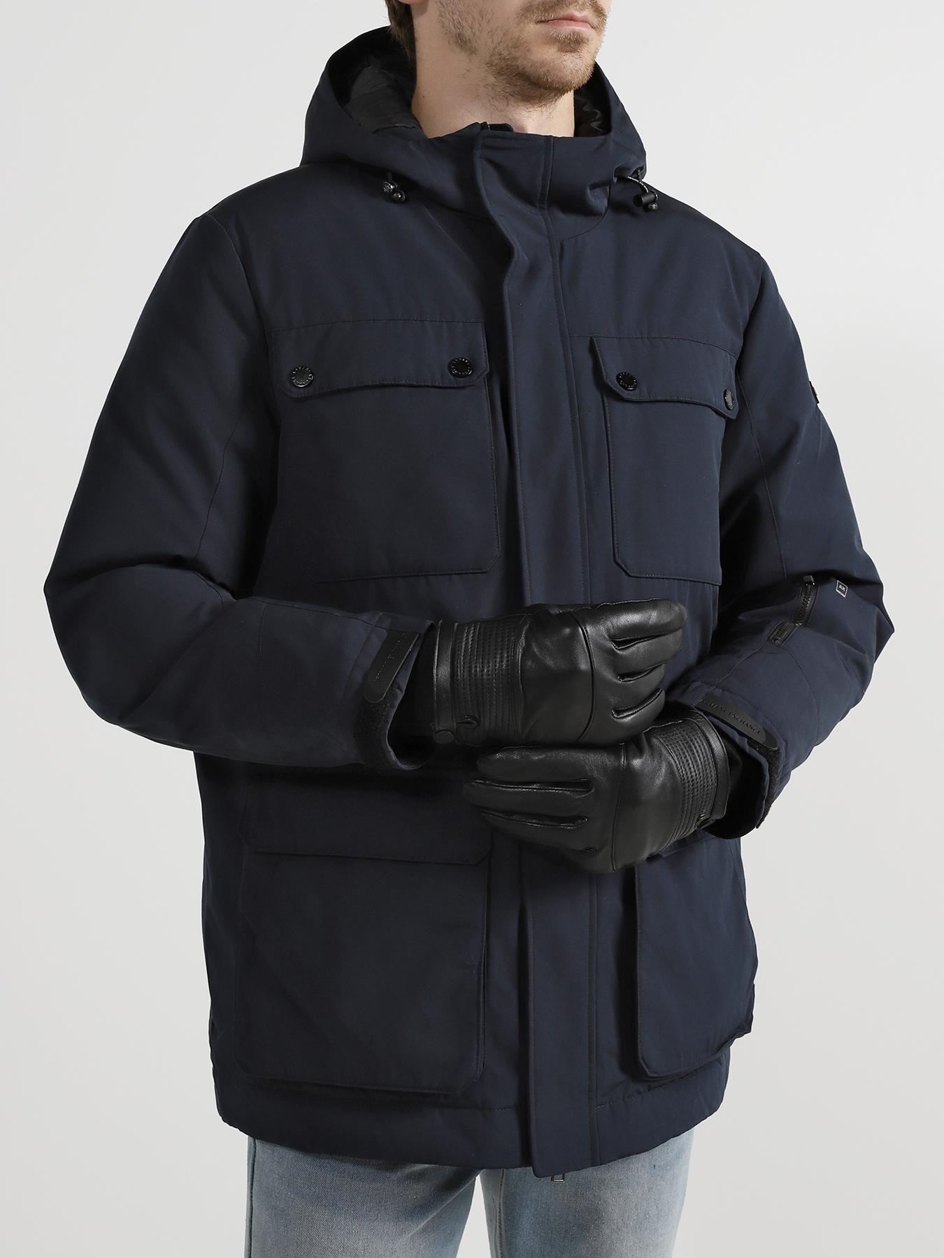 Перчатки Armani Exchange Кожаные перчатки