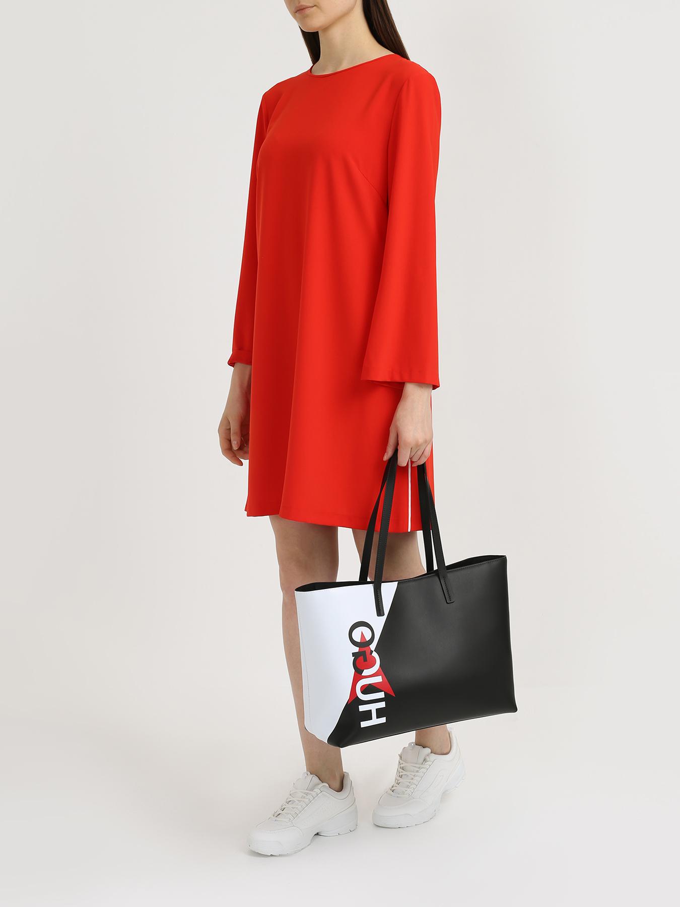 цена на Сумка HUGO Кожаная сумка Downtown Shopp