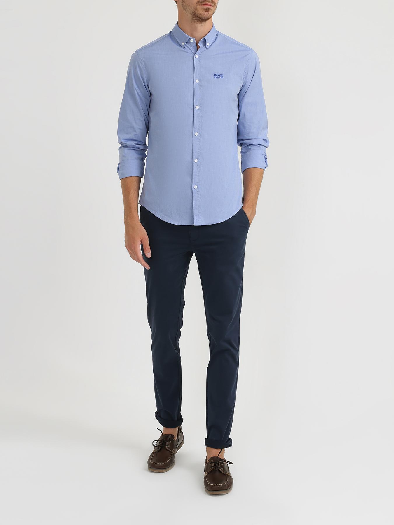 Рубашка BOSS Рубашка с длинным рукавом Biado рубашка с длинным рукавом для деловых людей весенняя осень твердый цвет silm fit