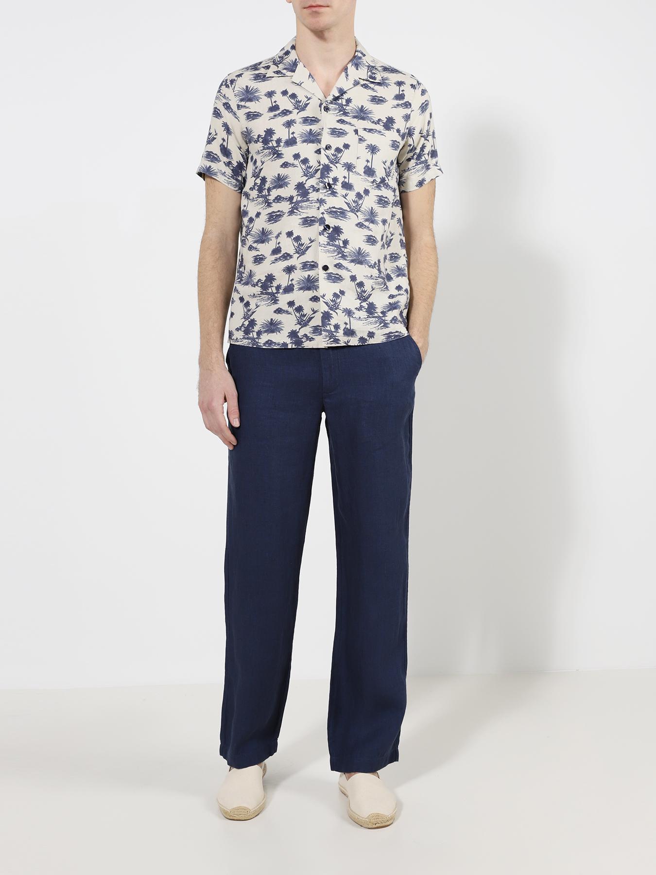 Брюки Alessandro Manzoni Jeans Льняные прямые брюки