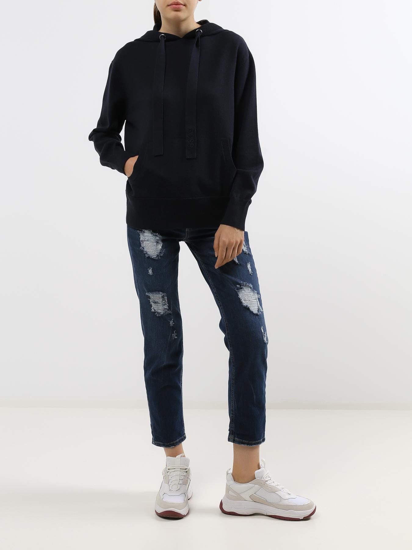 Брюки Rinascimento Женские рваные джинсы брюки rinascimento прямые джинсы