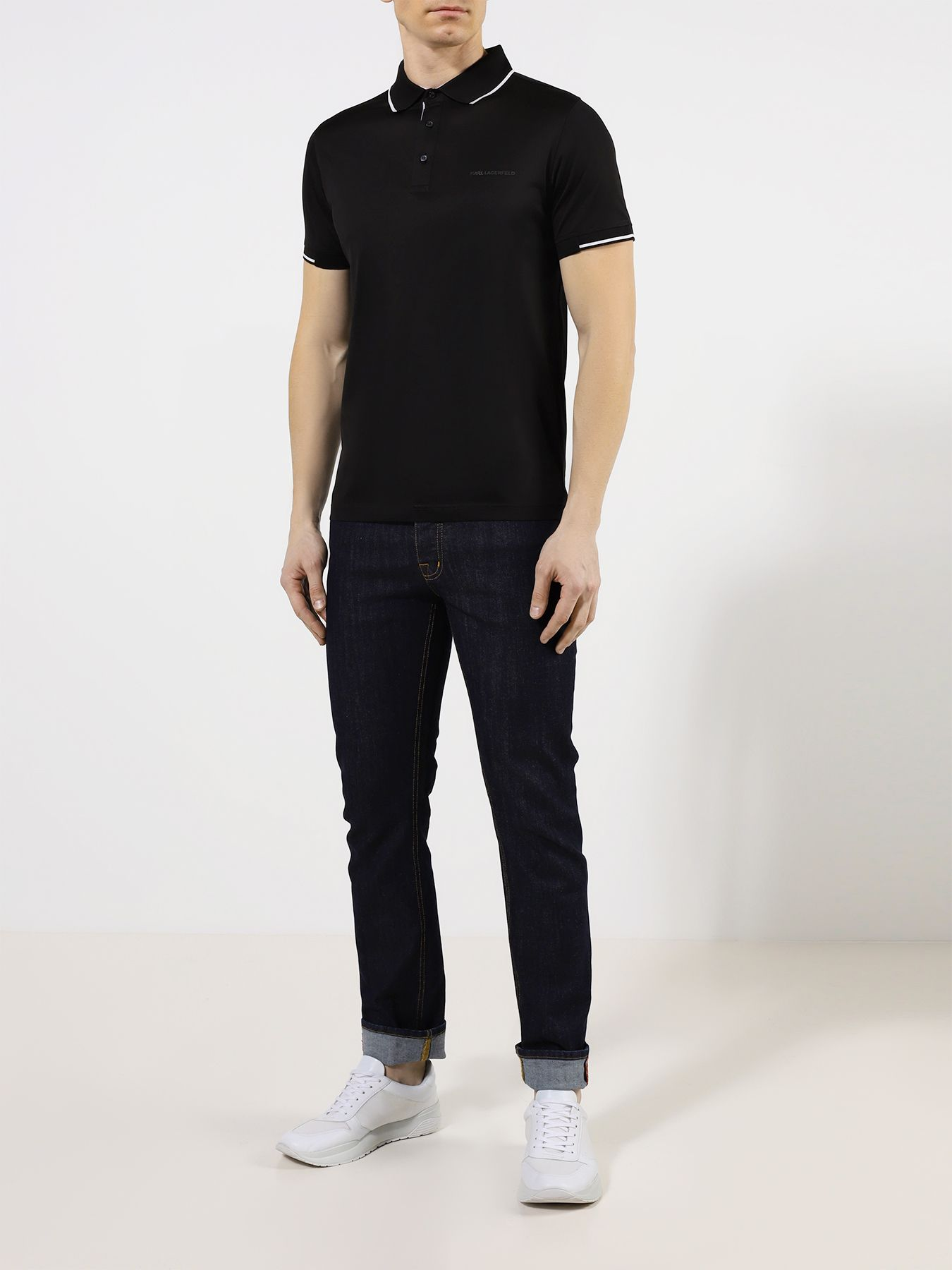 Фото - Рубашка с воротом поло Karl Lagerfeld Поло часы karl lagerfeld karl lagerfeld ka025dwiqah9