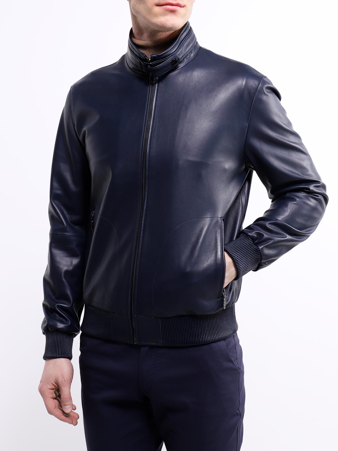 Фото - Кожаные куртки Alessandro Manzoni Кожаная куртка бумажник alessandro manzoni кожаная визитница