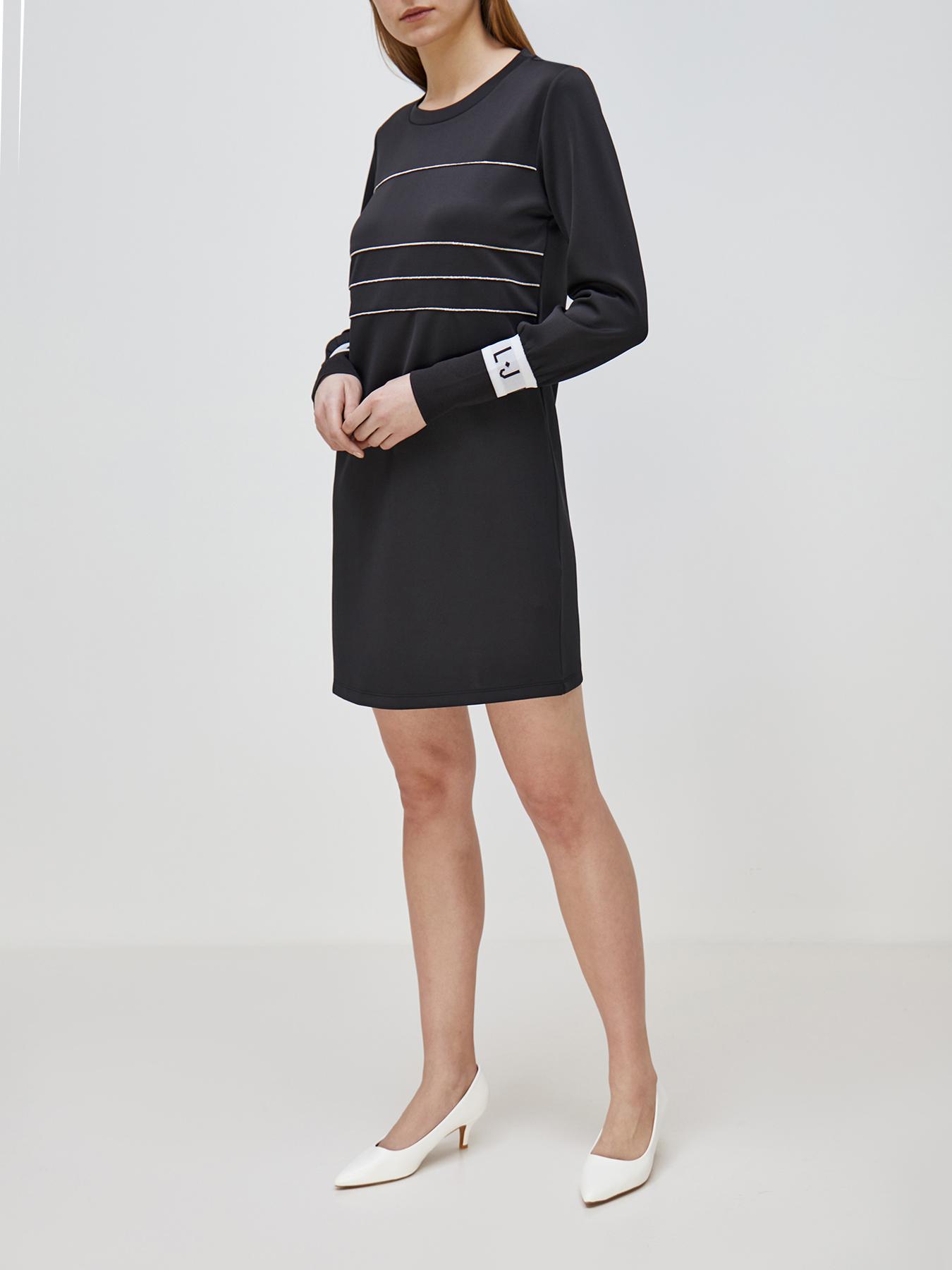 Платье Liu Jo Sport Платье шифоновое платье прямого кроя liu jo