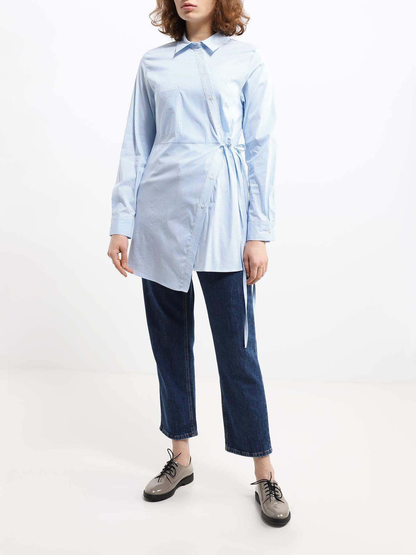 Блузка Emme Marella Рубашка с поясом на запах Slitta