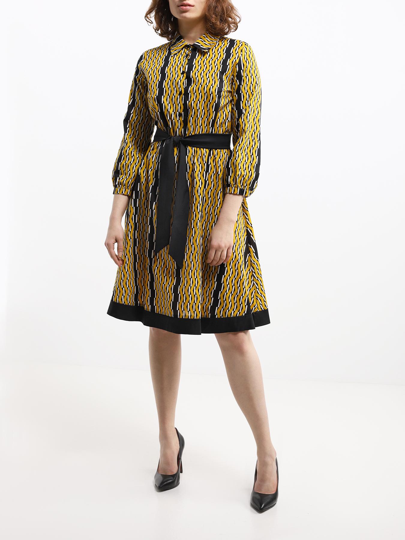 Платье Emme Marella Платье с поясом Roger полуприлегающее платье с длинным поясом cavo