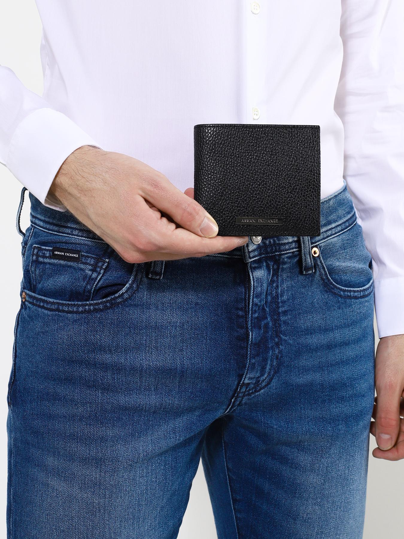 Кошелек Armani Exchange Кожаный кошелек