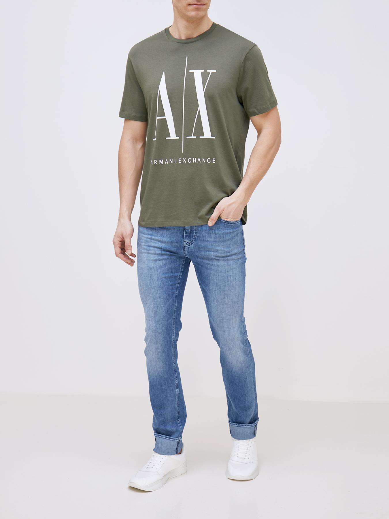 Фуфайка (футболка) Armani Exchange Футболка футболка armani exchange armani exchange ar037emekfi8