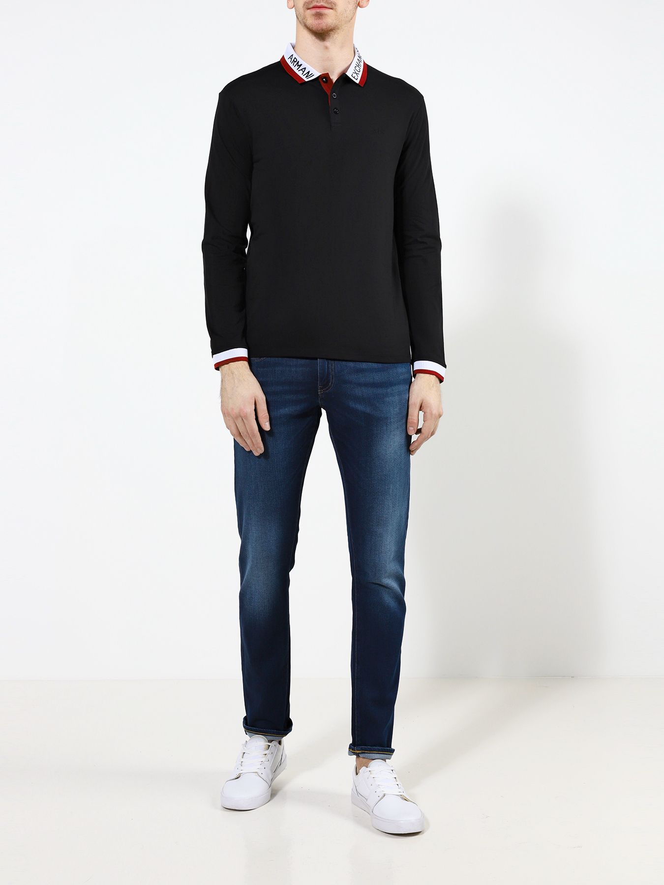 Рубашка поло Armani Exchange Поло с длинным рукавом