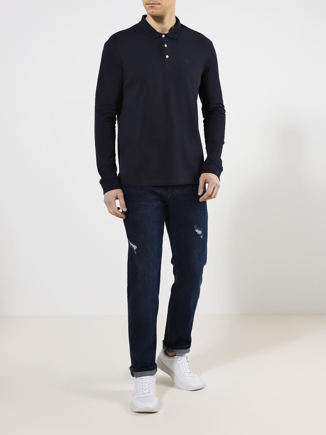 Рубашка поло Emporio Armani Поло с длинным рукавом