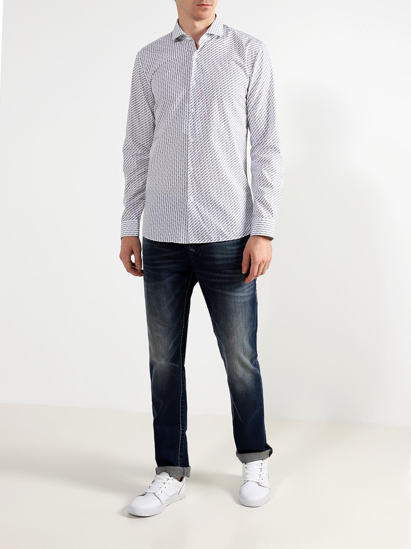 HUGO Хлопковая рубашка Erriko фото