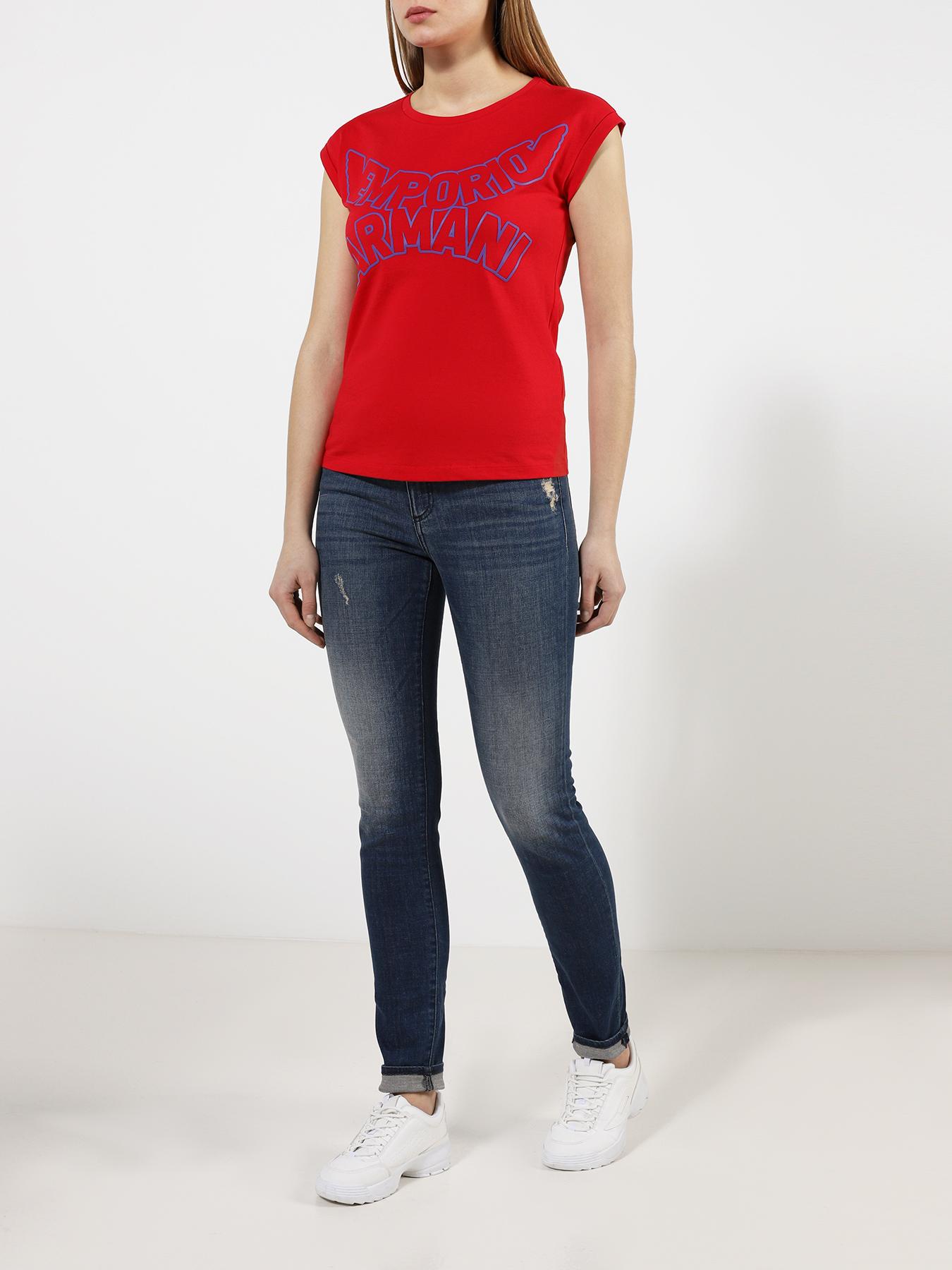 Брюки Armani Exchange Облегающие джинсы J01