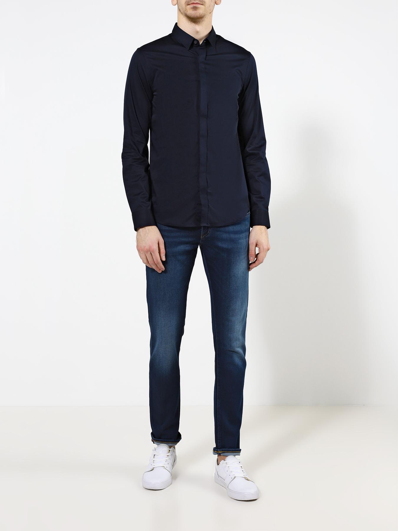 Рубашка Armani Exchange Однотонная рубашка