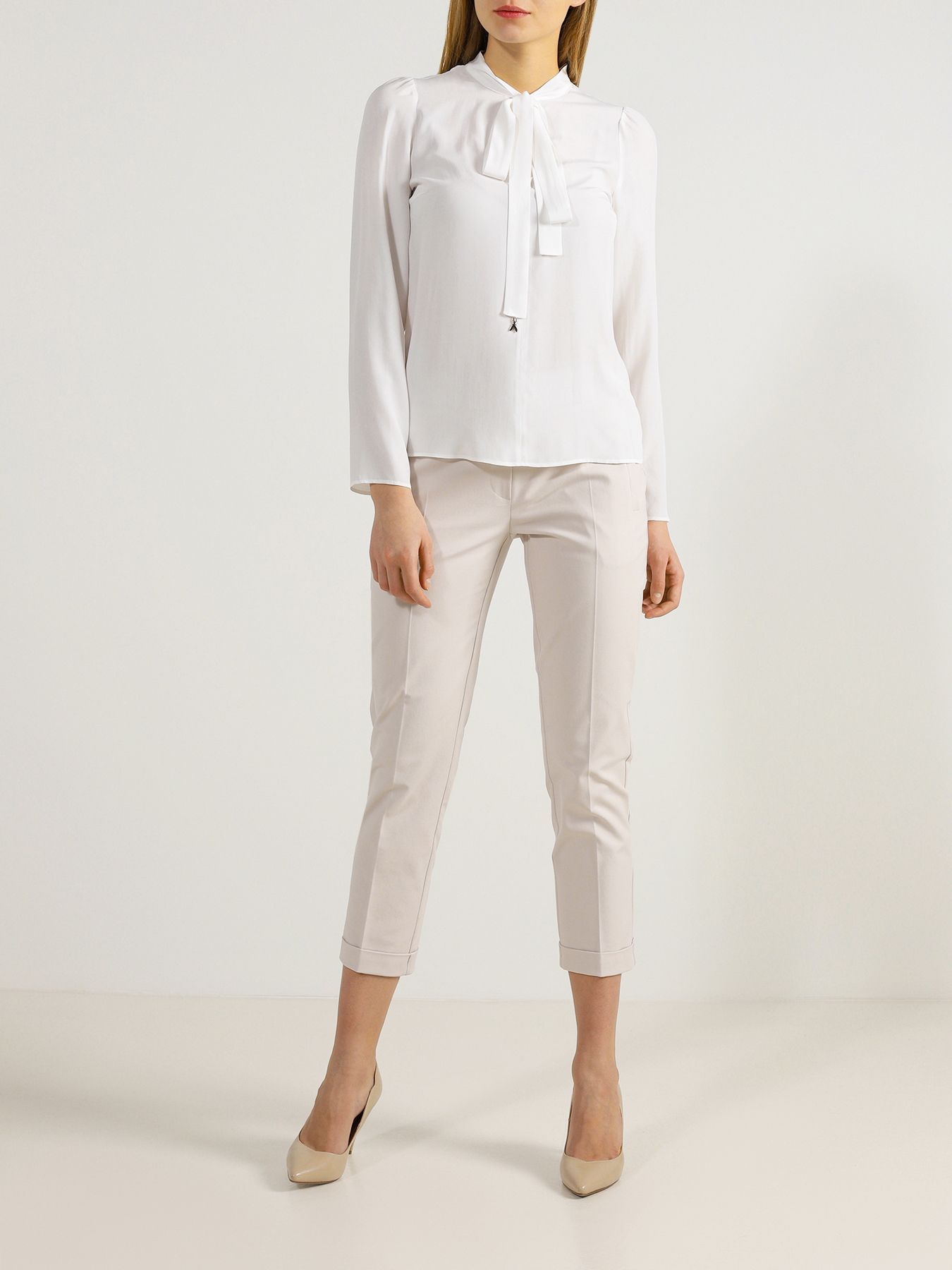 Блуза Patrizia Pepe Блузка с бантом bonpoint бархатный ремень с бантом ecnoeud