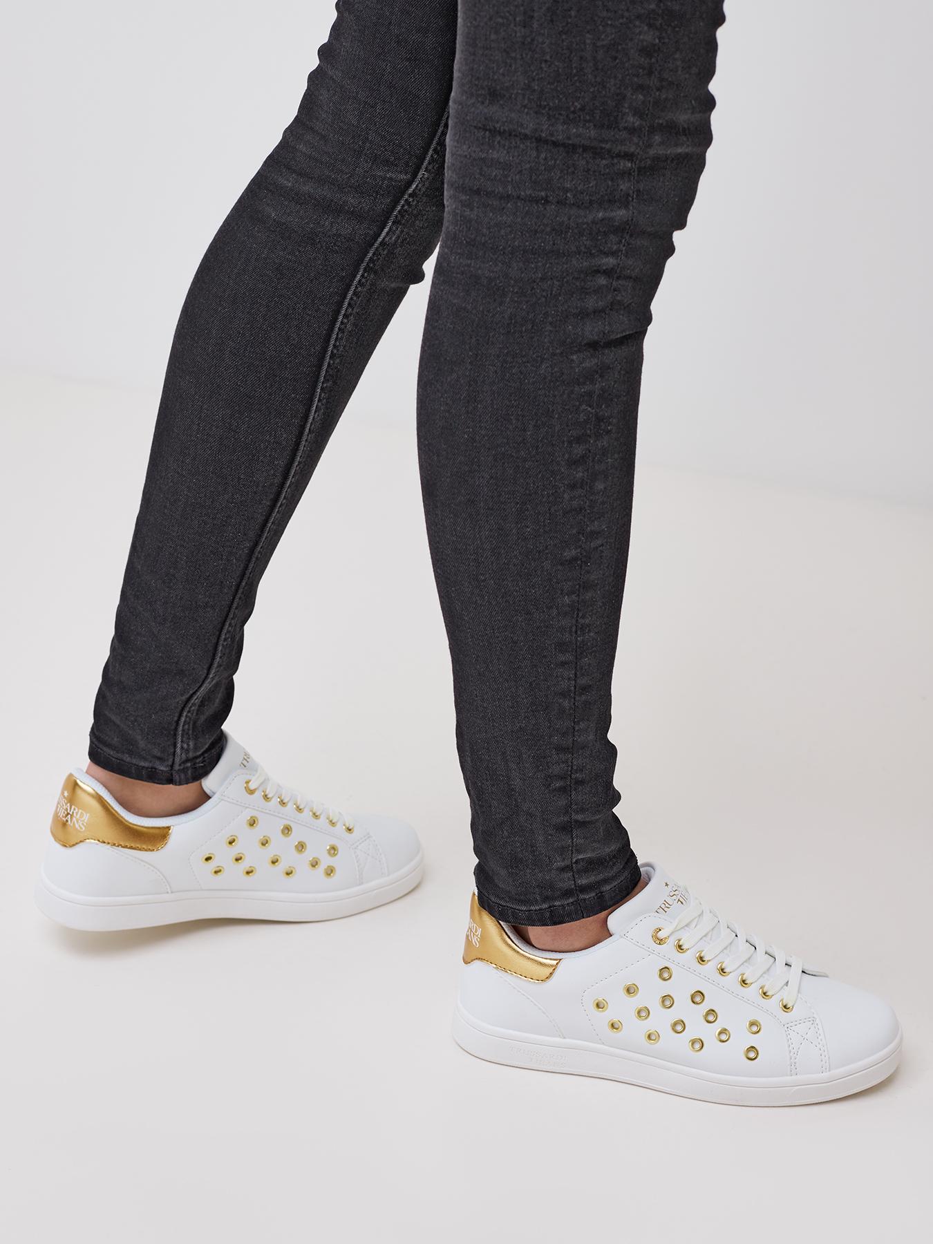 цена на Кроссовки Trussardi Jeans Кеды
