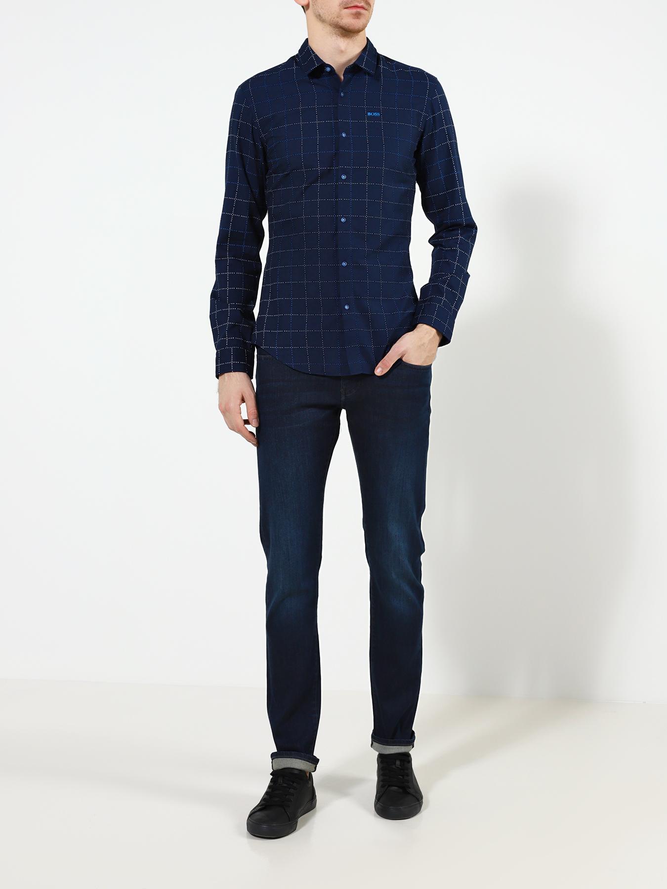 Рубашка BOSS Рубашка с длинным рукавом Bertillo рубашка с длинным рукавом для деловых людей весенняя осень твердый цвет silm fit