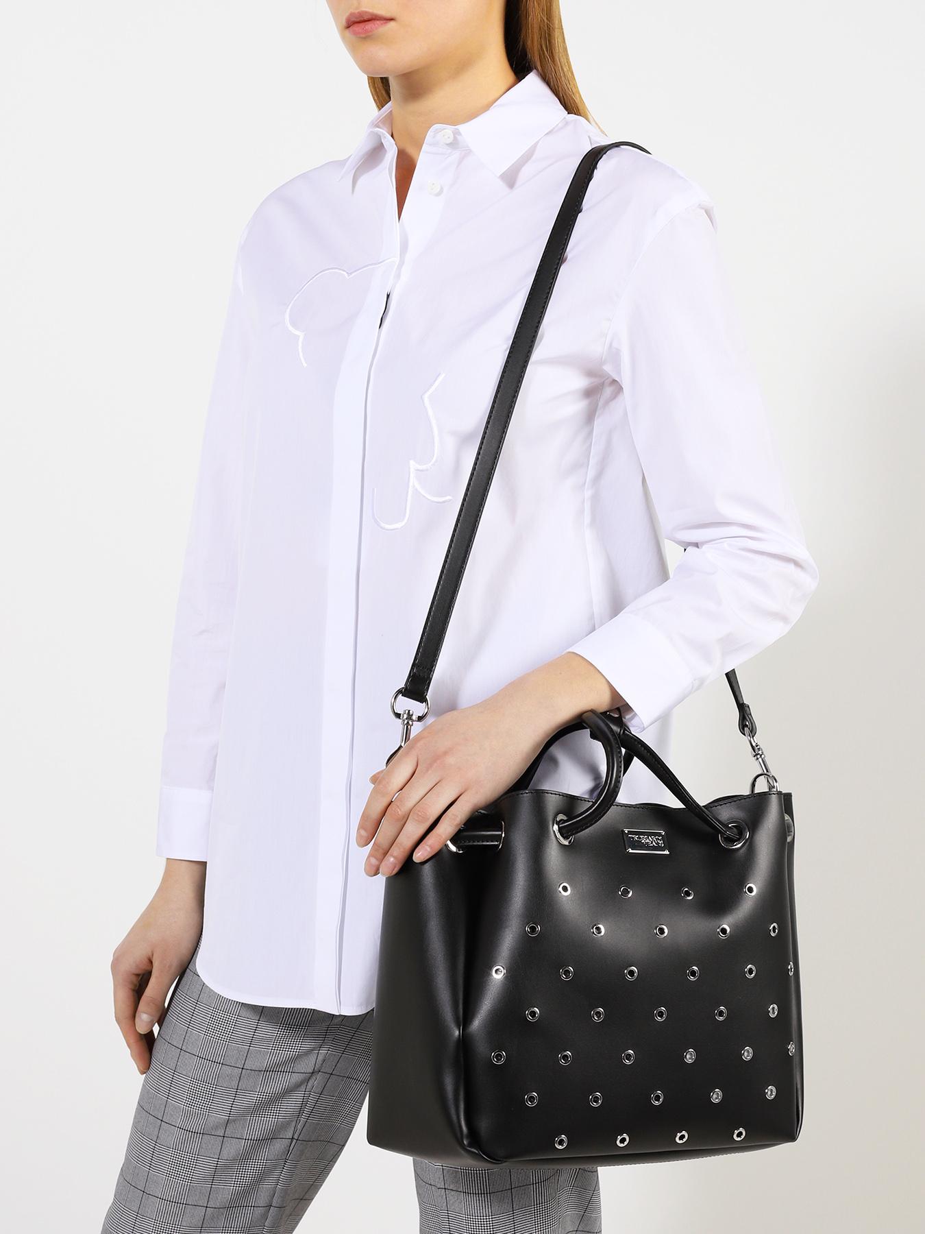 Фото - Сумка Trussardi Jeans Женская сумка куртка женская trussardi цвет темно синий 36s00158 blue night размер l 46 48