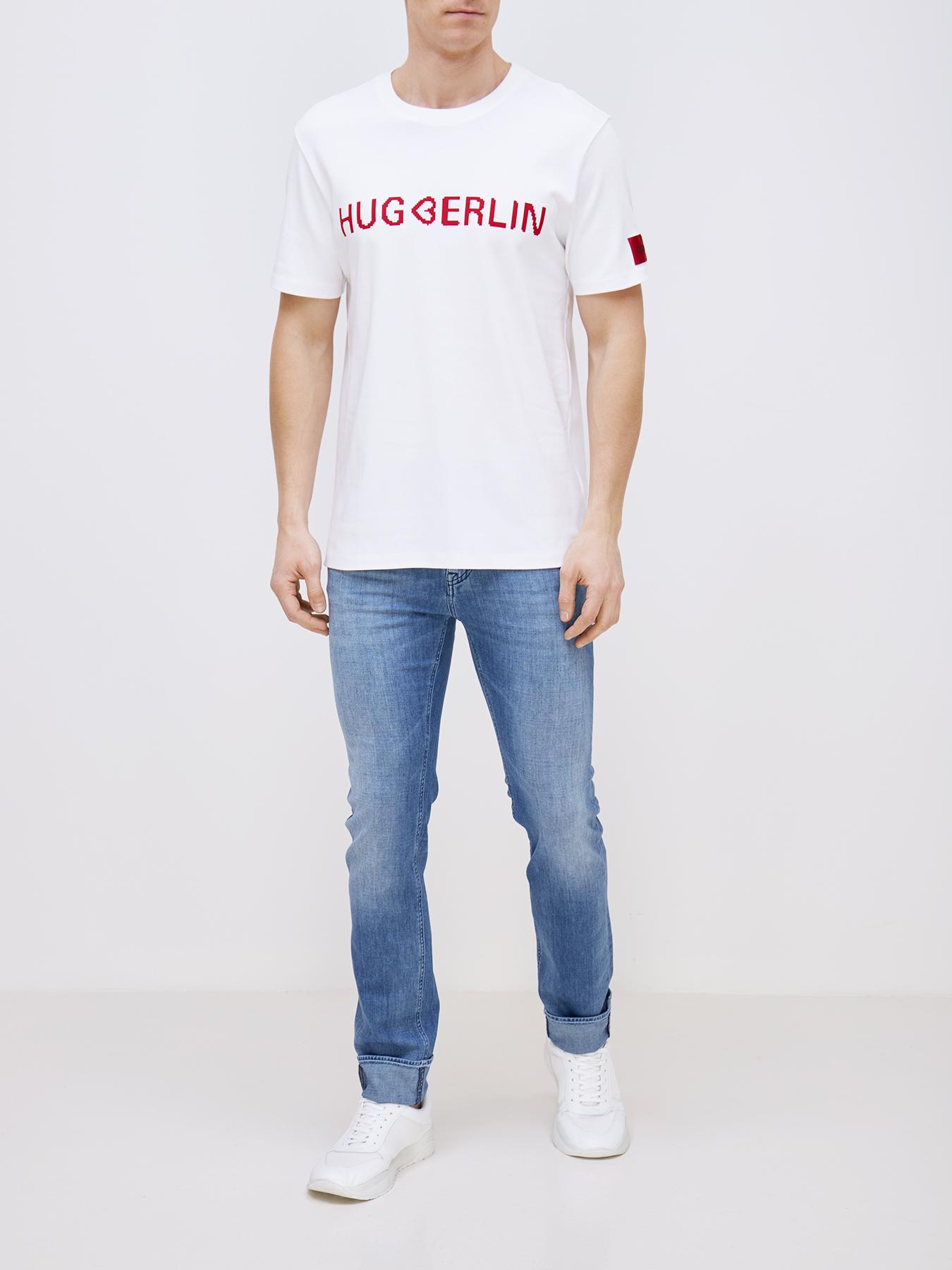 Фуфайка (футболка) HUGO Футболка Drosal фуфайка футболка hugo футболка drosal