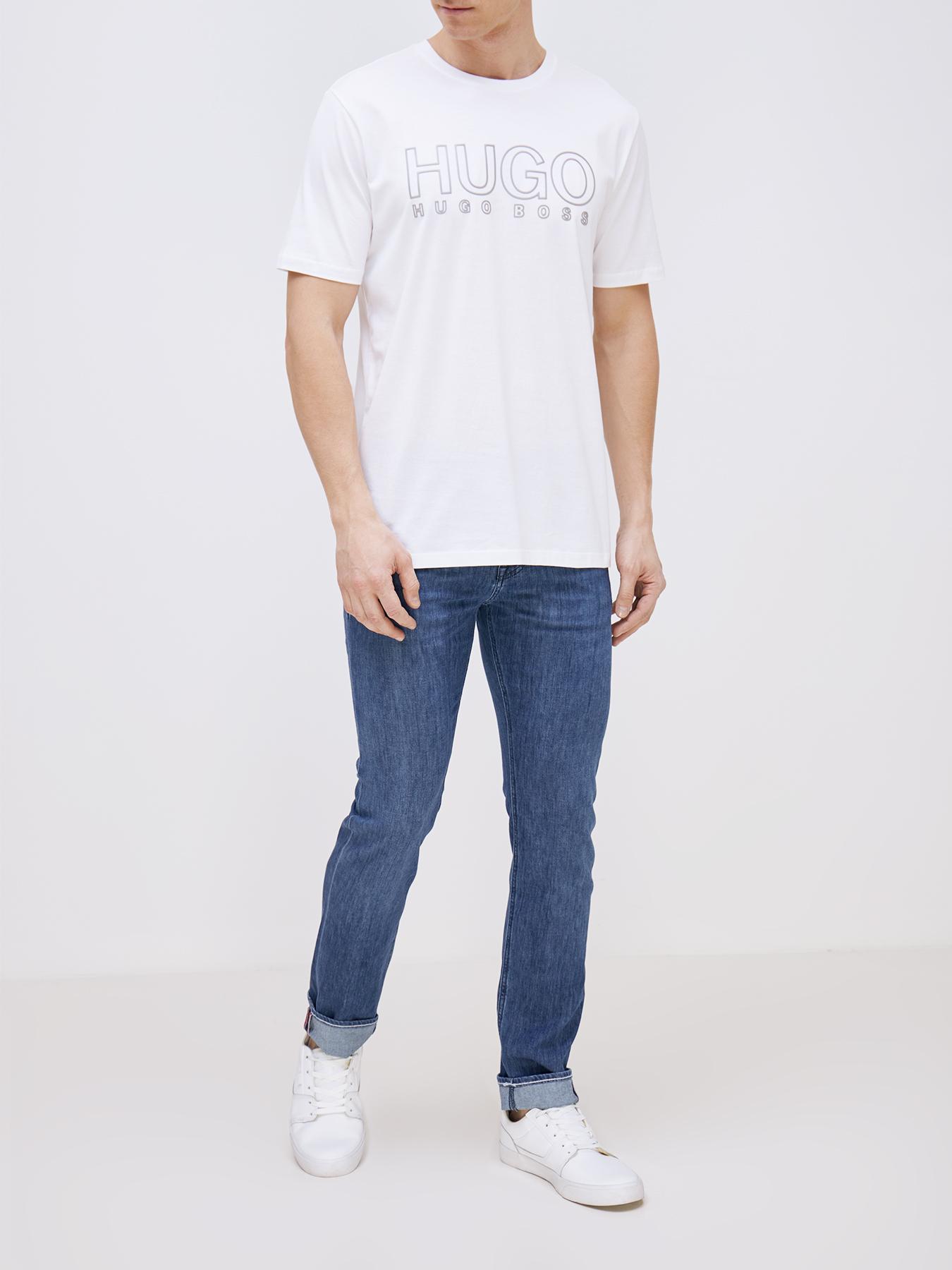 Фуфайка (футболка) HUGO Футболка Dolive фуфайка футболка hugo футболка drosal