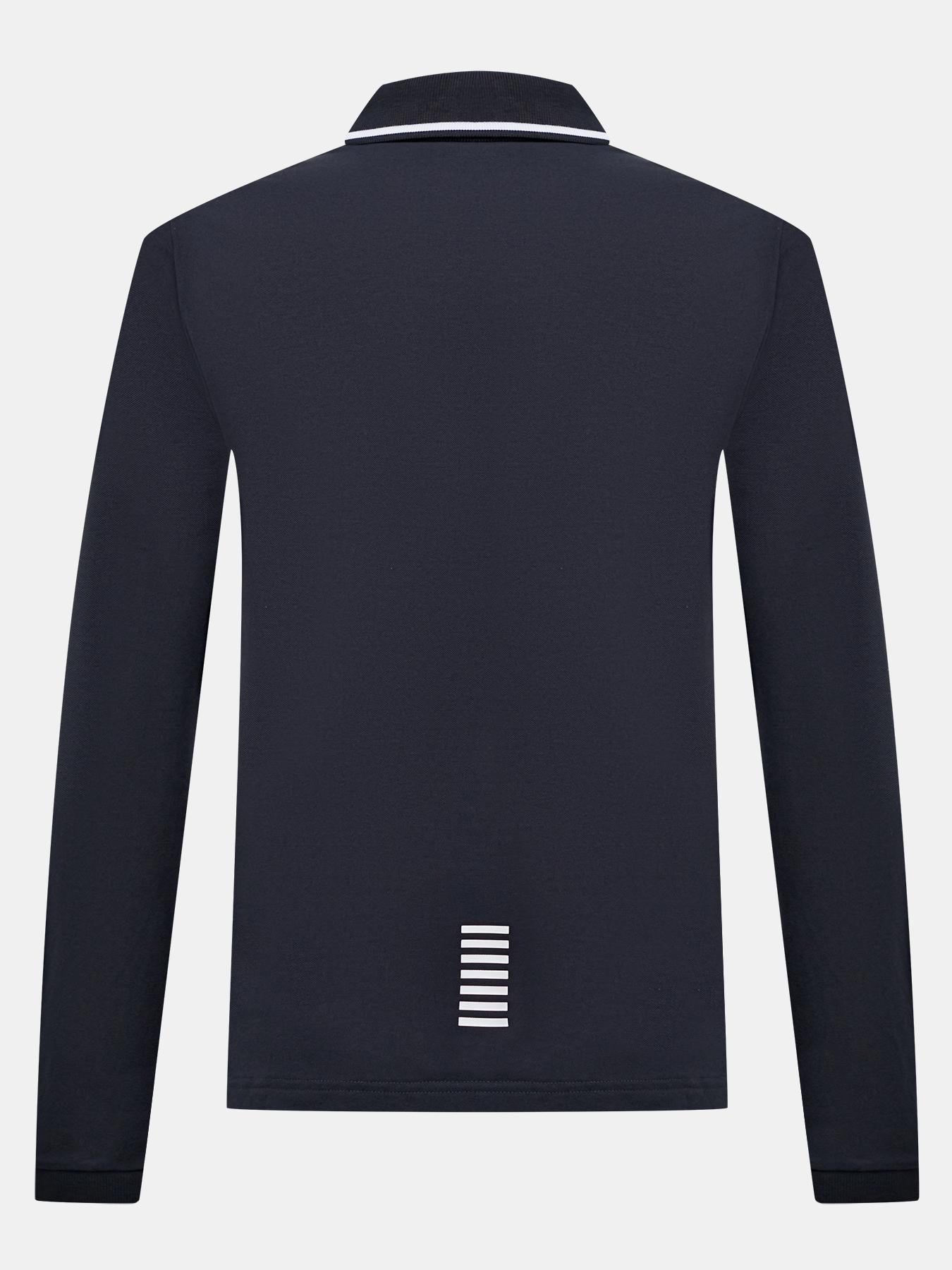 Рубашка с воротом поло EA7 Emporio Armani Поло с длинным рукавом