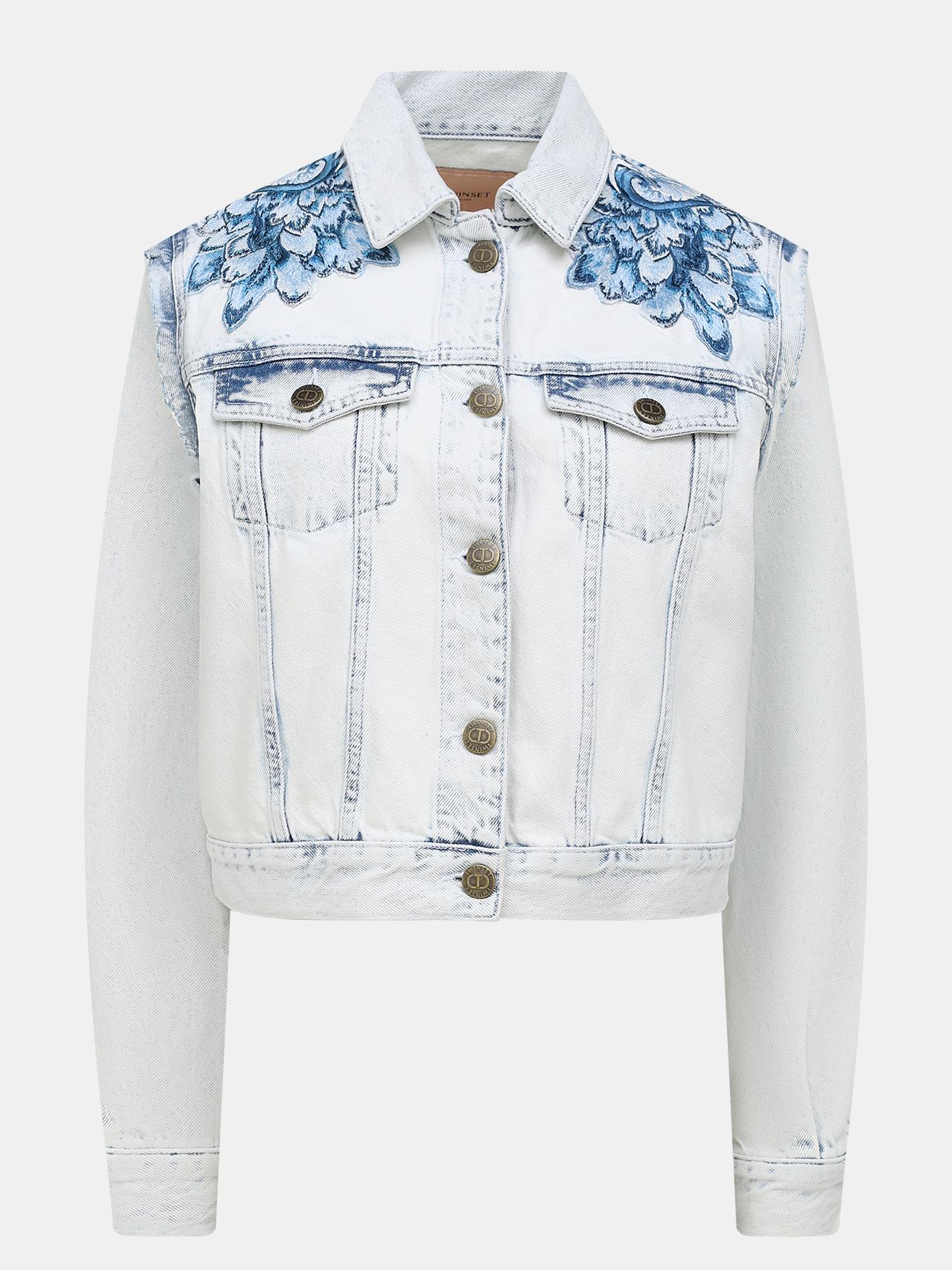 Джинсовые куртки TWINSET Джинсовая куртка фото
